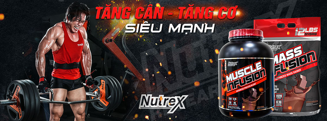 Muscle Infusion, Mass Infusion - Protein Nutrex hương gió mới